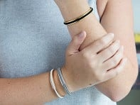 bittersweet: Teens Metallic Hair Tie Bracelet - 3 Pack