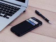 Mega Tiny: Anti-Gravity Dual Pocket  Wallet - Black