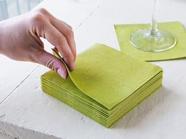the napkins: Faux-Linen Cocktail Napkin- 20 Piece Set - Case of 12 -