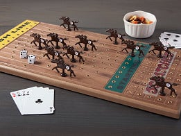 Across The Board: Wooden Tabletop Horseracing Game - Case of 6 -