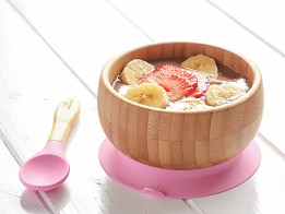 Avanchy: Bamboo Suction Baby Bowl & Spoon - Case of 10 -