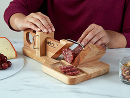 So Apéro: Handcrafted Sausage & Cheese Slicer -