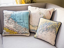 Not for Navigation: Custom Nautical Pillow - Case of 2 -