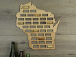 Wine Cork Map - Wisconsin