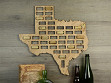 Wine Cork Map - Texas