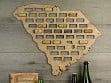 Wine Cork Map - South Carolina