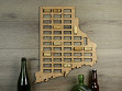 Wine Cork Map - Rhode Island