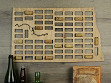 Wine Cork Map - North Dakota