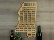 Wine Cork Map - Mississippi