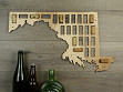 Wine Cork Map - Maryland