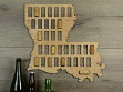 Wine Cork Map - Louisiana