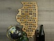 Wine Cork Map - Illinois