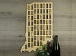 Wine Cork Map - Indiana