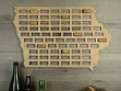 Wine Cork Map - Iowa