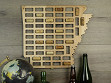Wine Cork Map - Arkansas