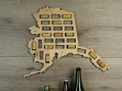 Wine Cork Map - Alaska