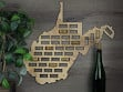 Wine Cork Map - West Virginia