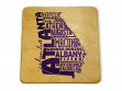 State Typography Coasters - Georgia - Case of 6