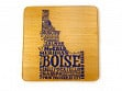 State Typography Coasters - Idaho - Case of 6