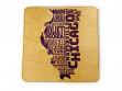 State Typography Coasters - Illinois - Case of 6