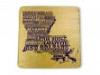 State Typography Coasters - Louisiana - Case of 6