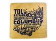 State Typography Coasters - Ohio - Case of 6