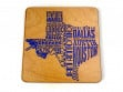 State Typography Coasters - Texas - Case of 6