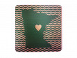 State with Heart Coasters - Minnesota - Case of 6
