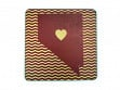 State with Heart Coasters - Nevada - Case of 6