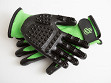 Grooved Pet Grooming Gloves - Green - Junior Size - Case of 12