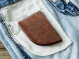 Moose Leather Front Pocket Wallet - Sample