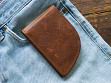 Moose Leather Front Pocket Wallet