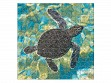 Large Wooden Jigsaw Puzzle - Mosaic Sea Turtle
