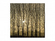 Medium Wooden Jigsaw Puzzle - Poplars at Sunrise - Assembled