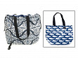 Reversible Laminated Cotton Cinch Tote - Orcas/Whale