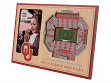 3D Stadium Picture Frame NCAA Oklahoma Sooners The Gaylord Family Oklahoma Memorial Stadium