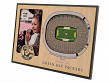 3D Stadium Picture Frame NFL Green Bay Packers Lambeau Field
