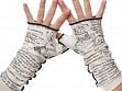 Book Themed Writing Gloves - Alice in Wonderland