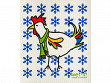 Winter Rooster Sponge Cloth