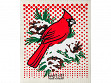 Winter Cardinal Sponge Cloth