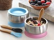 Stainless Steel Suction Baby Bowl & Air Tight Lid - Case of 10