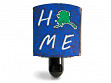 Reclaimed Metal Home State Night Light - Alaska - Blue & Green