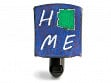 Reclaimed Metal Home State Night Light - Arizona - Blue & Green