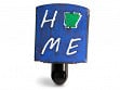 Reclaimed Metal Home State Night Light - Arkansas - Blue & Green