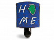 Reclaimed Metal Home State Night Light - Illinois - Blue & Green