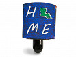 Reclaimed Metal Home State Night Light - Louisiana - Blue & Green