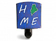 Reclaimed Metal Home State Night Light - Maine - Blue & Green