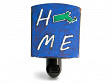 Reclaimed Metal Home State Night Light - Massachusetts - Blue & Green