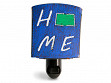 Reclaimed Metal Home State Night Light - North Dakota - Blue & Green