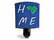 Reclaimed Metal Home State Night Light - South Carolina - Blue & Green